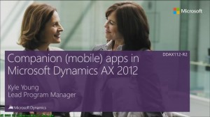 [视频]Microsoft Dynamics AX 2012 R2 Companion Mobile Apps(AX 移动应用伴侣/英文)