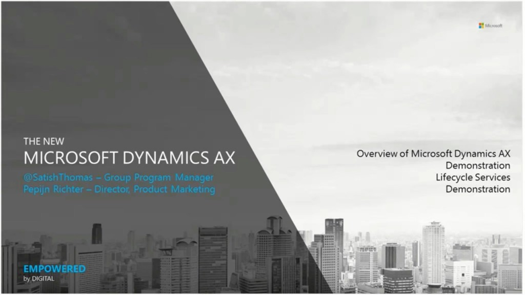 [视频]Introducing the New Microsoft Dynamics AX 7