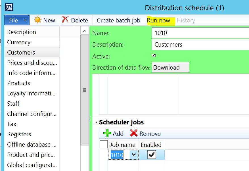 Dynamics AX 2012 R3 Retail Error when running Distribution schedule job: 'Class RetailCDXChannelSpecificData_AX63 does not exist