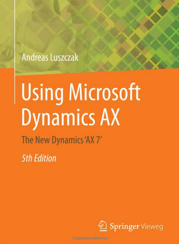 [eBook]Using Microsoft Dynamics AX 7 发布