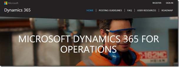 Important links for Dynamics 365