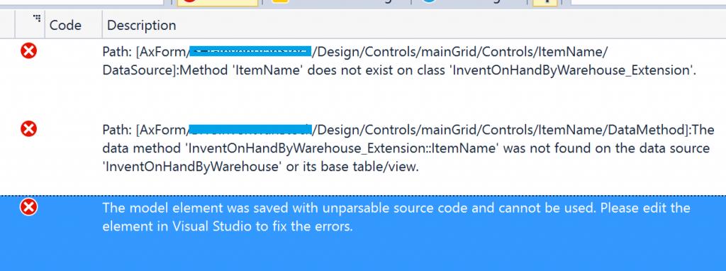 在D365FO中新建类时编译错误 / Build error for new class in D365FO